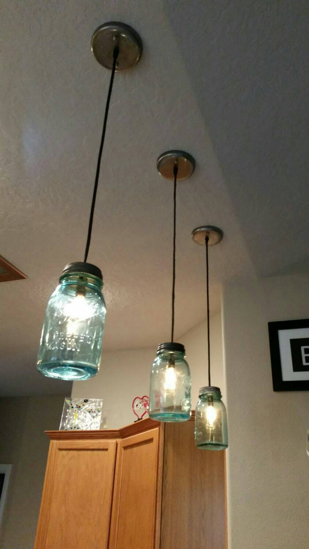 Vintage Mason Jar Pendant Light Recreated Lighting Unique And Artistic Reclaimed Lighting Creations